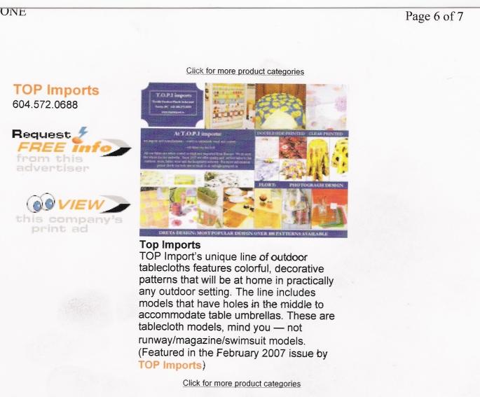 press release garden centre magazine feb 2007