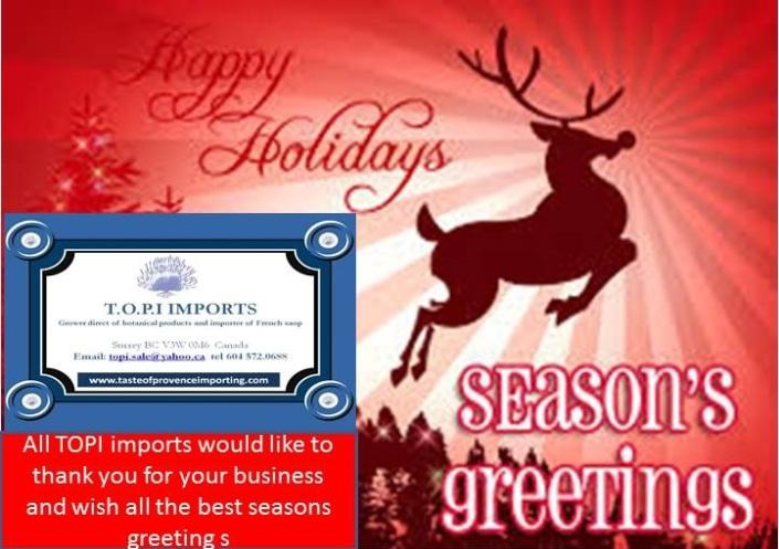 topi imports season greeting  2015
