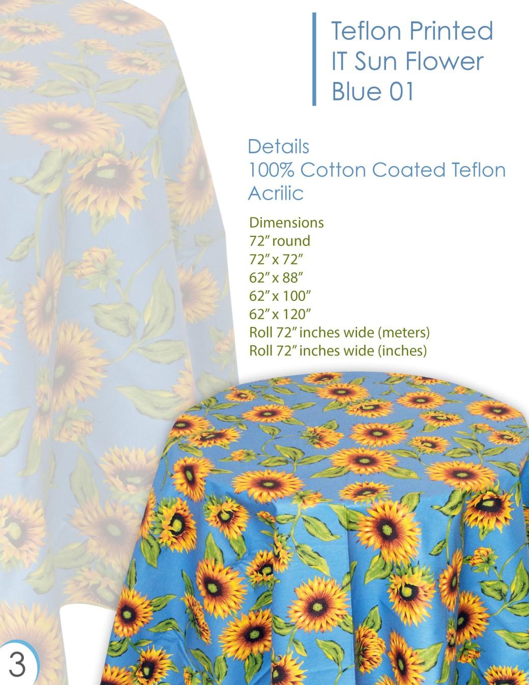 sun flower blue
